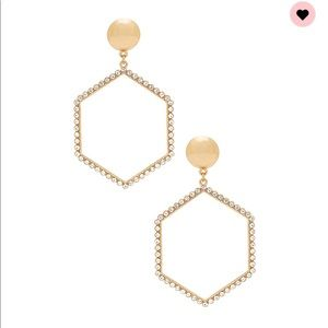 Hexagon Gold Hoop Earrings